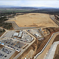 An aerial view of the ITER construction site in Cadarache, France. Photograph: Agence ITER France