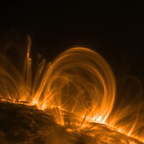 Sun's corona loop traces. Photograph: lakerae, Flickr.com