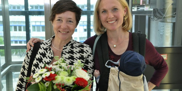 After new professorship signing ceremony: Prof. Franziska Gassmann and Dr. Esther Schuring, 28 May 2015