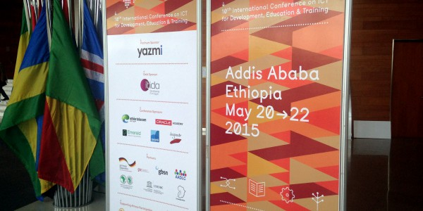 eLearning Africa conference, welcome stands, May 2015