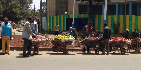 Street vendors of fruit, Addis Ababa, May 2015
