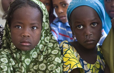 A group of young girls in class, Nigeria 2015