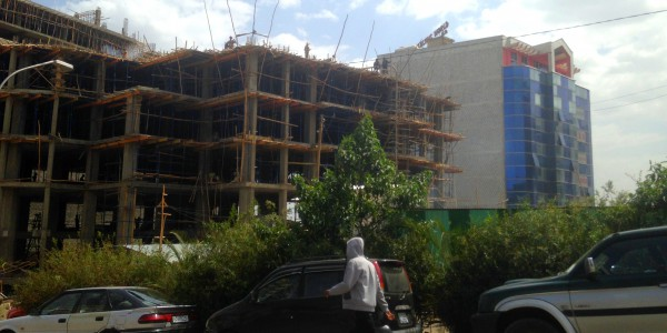 Construction work, Addis Ababa, May 2015