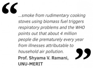 smoke from rudimentary cooking stoves using biomass fuel triggers respiratory problems and the WHO points out that about 4 million people die prematurely every year from illnesses attributable to household air pollution.