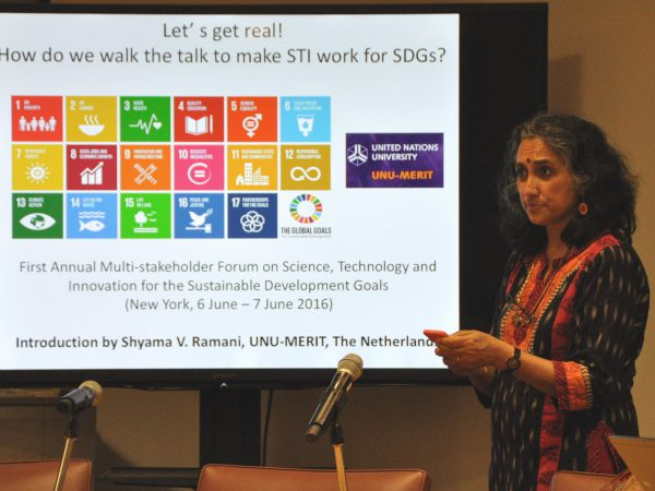 Shyama Ramani: 'STI systems and SDG goals – Why recognition of complexity within a systemic view matters'